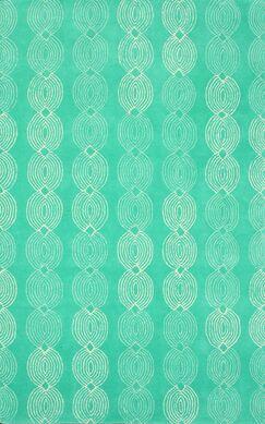 Eugene Hand-Tufted Wool Blue Area Rug Rug Size: Rectangle 7'6