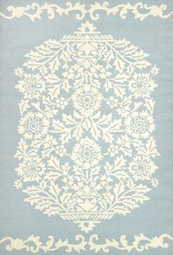 Repca Nyslsay Hand-Woven Blue/Cream Area Rug Rug Size: Rectangle 8'6