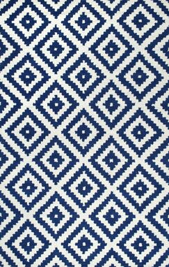 Bourn Hand-Tufted Navy Area Rug Rug Size: Rectangle 5' x 8'