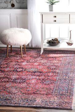 Tacony Pink Area Rug Rug Size: 8' x 10'