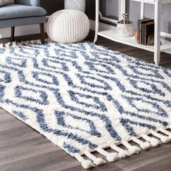 Reid Hand-Woven Soukey Area Rug Rug Size: Rectangle 3' x 5'