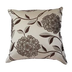 Venetian Luxurious Pillow Cover Color: Brown