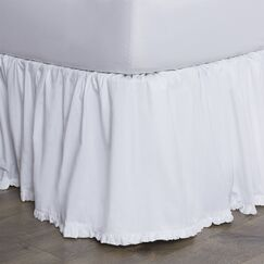 Classic Ruffle Cotton Bed Skirt Size: King, Color: Bright White