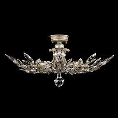 Crystal Laurel 5-Light Semi Flush Mount Finish: Antique Silver Leaf
