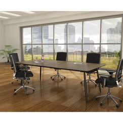 Knife Edge Conference Table Top Color: Walnut