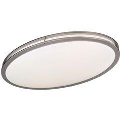 2-Light Oval Flush Mount Size: 4.5