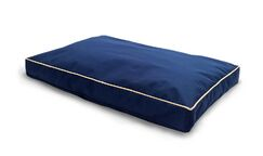 Billy Indoor/Outdoor Solid Deluxe Pillow Pet Bed Color: Blue, Size: Large (36