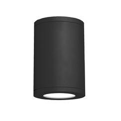 Janice 1-Light Flush mount Finish: Black, Lens Degree: Spot, Size: 9.53