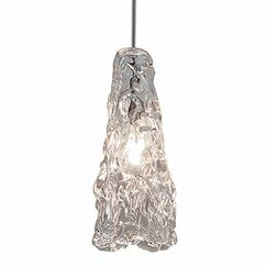 Ice Monopoint 1-Light Cone Pendant Finish: Dark Bronze, Size: Large