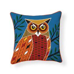 Foreset Owl Indoor/Outdoor Throw Pillow