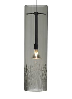 Springview 1-Light Cylinder Pendant Finish: Bronze, Shade Color: Clear