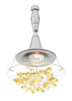 Vision Chandelier Head Finish: Bronze, Shade Color: Amber