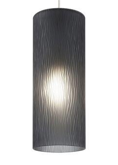Akari 1-Light Cylinder Pendant Bulb Type: Incandescent, Finish: Satin Nickel, Shade Color: Smoke