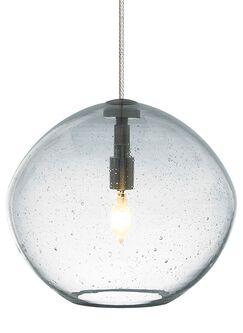 Centeno 1-Light Fusion Jack Bowl Pendant Finish: Satin Nickel, Shade Color: Clear