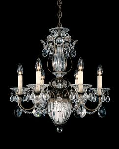 Bagatelle 7-Light Chandelier Crystal Type: Swarovski Elements Clear, Finish: Silver