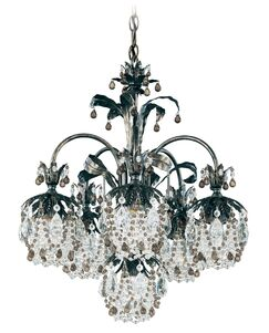 Rondelle 6-Light Shaded Chandelier Finish / Crystal Color: French Gold / Soft Jewel