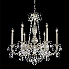 Alea 6-Light Chandelier Crystal Type: Heritage Clear, Finish: Florentine Bronze