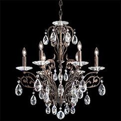 Filigrae 6-Light Chandelier Crystal Type: Spectra Clear, Finish: Etruscan Gold