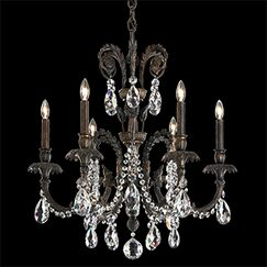 Genzano 6-Light Chandelier Crystal Type: Spectra Clear, Finish: Parchment Gold