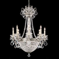 La Scala Empire 8-Light Candle Style Chandelier Finish / Crystal Color: Parchment Gold / Swarovski Spectra