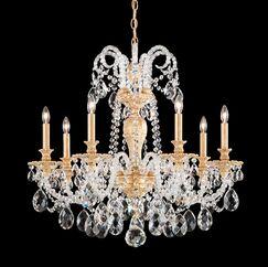 Isabelle 7-Light Chandelier Crystal Grade: Clear Optic , Finish: Etruscan Gold
