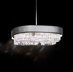 Zeppa 24-Light Kitchen Island Pendant Shade Color: Silver, Crystal: Spectra Crystal Clear