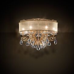 Filigrae 6-Light Flush Mount Shade Color: Bronze, Finish: Heirloom Bronze, Crystal: Spectra Crystal Clear