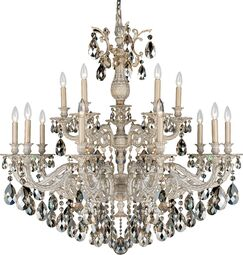 Milano 15-Light Chandelier Finish: Midnight Gild, Crystal Color: Optic Clear