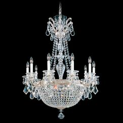 La Scala Empire 15-Light Chandelier Finish / Crystal Color: Heirloom Bronze / Strass Clear