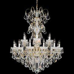 New Orleans 18-Light Chandelier Finish: Heirloom Gold, Crystal Type: Golden Teak Crystals From Swarovski