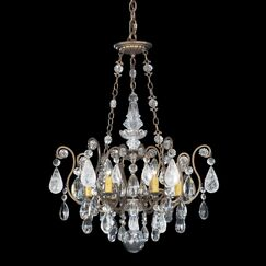 Renaissance Rock 6-Light Chandelier Finish: Heirloom Bronze, Crystal Color: Combination of Olive and Smoke