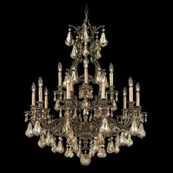 Sophia 15-Light Chandelier Finish: Parchment Gold, Crystal Color: Strass Silver Shade