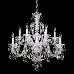 Sterling 12-Light Chandelier Crystal Type: Heritage Clear