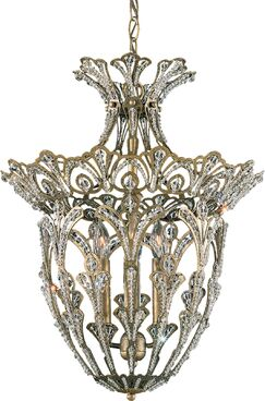 Rivendell 4-Light Crystal Chandelier Finish: French Gold, Crystal: Spectra Crystal Clear