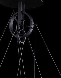 Solarius Geometric Pendant Finish: Black, Size: 1