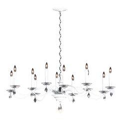 Modique 12-Light Chandelier Crystal Grade: Swarovski®, Finish: Heirloom Bronze