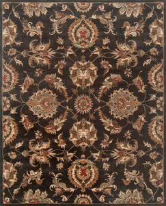 Serene Hand-Woven Wool Black Area Rug Rug Size: Rectangle 5' x 7'6