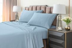 Johannsen Extra Deep Pocket Flannel Sheet Set Color: Blue, Size: Twin