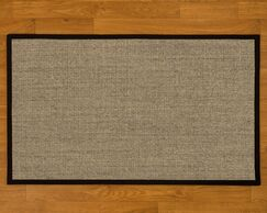 Buschwick Handmade Black Area Rug Rug Size: Rectangle 2' x 3'