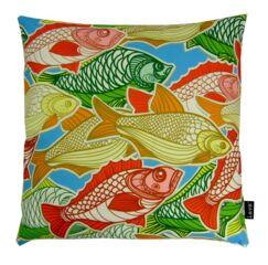 Swimming Fish Indoor/Outdoor Throw Pillow