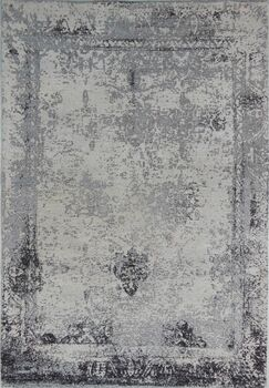 Vintage Hand-Woven Cotton Grey Area Rug Rug Size: 5'7