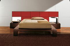 Soho Platform Bed Size: Queen, Color: Red High Gloss