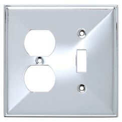 Beverly Single Switch/Duplex Socket Plate
