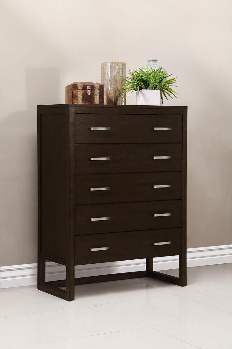 Brisbane 5 drawer chest dresser finish tobacco dmvt1025 for Bedroom furniture brisbane