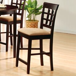 Wildon Home 100209 - Derby Wheat Back Bar Stool in Cappuccino