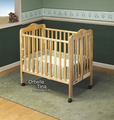 Orbelle Trading 1122N - Tina Three Level Portable Crib Bed in Natural