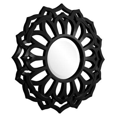 Howard Elliott 2196BL - Casey Round Mirror in Black