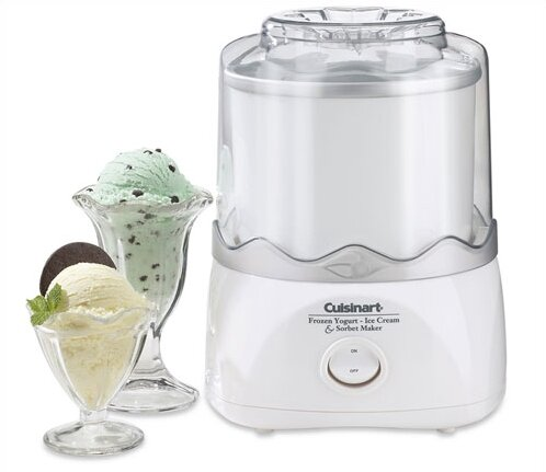 Cuisinart ICE-20 - Automatic Frozen Yogurt-Ice Cream & Sorbet Maker in White