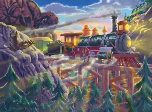 Melissa and Doug 3132 - Eagle Canyon Railway Cardboard Jigsaw Puzzle