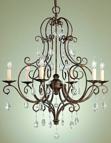 Murray Feiss F1902/6MBZ - Chateau Chandelier